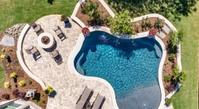 229 Overhead Freeform Pool with Custom Features, Dallas, TX