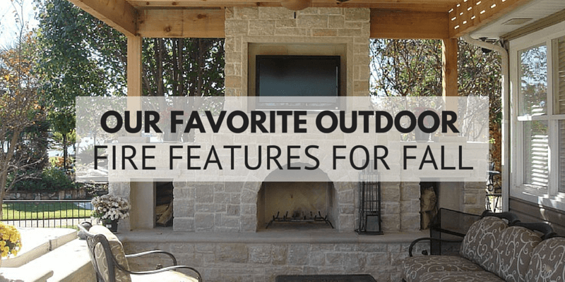Our Favorite Outdoor Fire Features for Fall