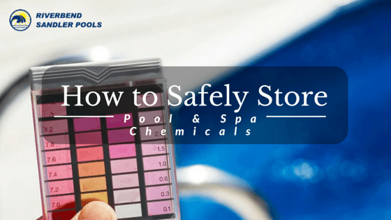 safely store pool and spa chemicals