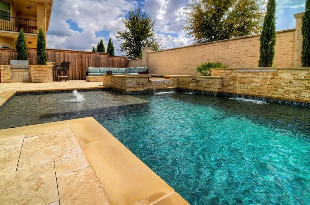 Dallas Saltwater Pool Vs Chlorine Pool Frisco Gorgeous Pool Remodel Dallas Set Design