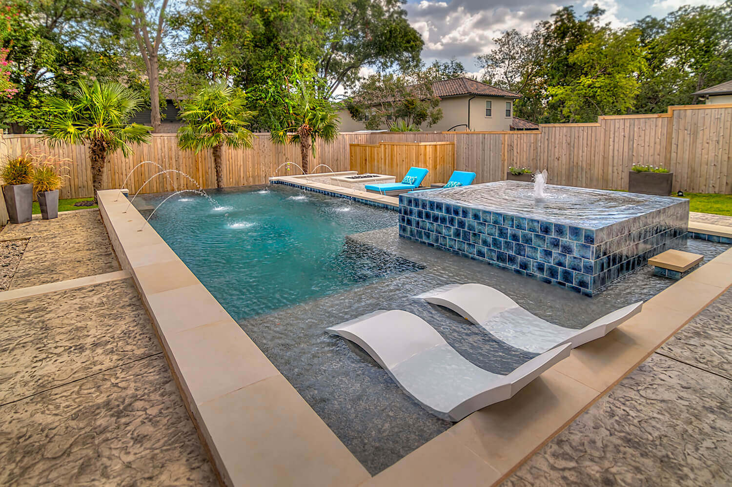 Water Features That Perfectly Complement a Modern Geometric Pool